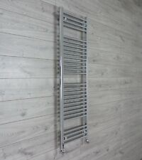 1500 x 600 mm Flat Chrome Heated Towel Rail Radiator Central Heating Bathroom