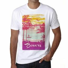 Bowers Escape to paradise Uomo Maglietta Bianca Regalo 00281