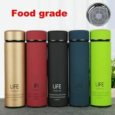 Insulate Thermos with Strainer Thermo Flask Coffee Cup Stainless Steel Thermal B