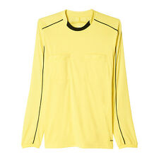 Adidas Referee 16 de manga larga camiseta Amarillo Negro