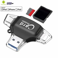4 IN 1 Type C Memory Card Reader,USB 3.1OTG Micro SD Adapter For iPhone lot UK