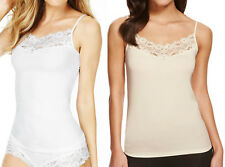 Marks & Spencer Womens Lace Neck Strappy Vest Top New M&S Sleeveless Camisole