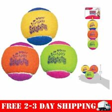 KONG Squeaker Tennis Balls Dog 3 Pack MEDIUM Squeaky Toys Puppy Play Fetch 2.5""