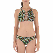 Haunted Mansion Stretch Paintings Strappy High Neck Bikini Set XS-3XL
