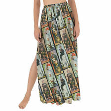 Haunted Mansion Stretch Paintings Maxi Sarong Skirt XS-3XL