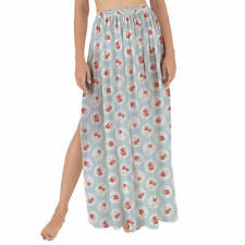Shabby Chic Florals on Blue Maxi Sarong Skirt XS-3XL