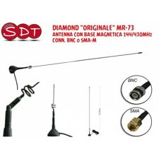 "DIAMOND ""ORIGINALE"" MR-73 ANTENNA CON BASE MAGNETICA 144/430MHz CONN. BNC o SMA-"