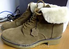 Ladies Ex M&S Footglove Wide Fit Lace up Suede Block Heel Ankle Boots Shoes HD58