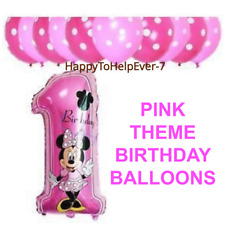"12"" Polka Dot Balloon + 30"" Minnie/Mickey Mouse Foil Number '1' Baloon ballon"