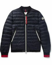 New SS18 Moncler 'DANEB' Quilted Bomber Jacket - Navy