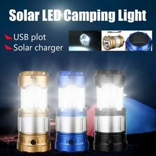 Rechargable 3W Solar Power LED Flashlight Camping Tent Light Torch Lantern LampF