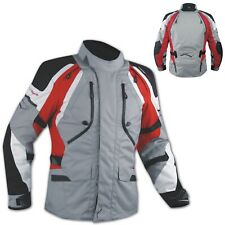 Motorbike Motorcycle Waterproof CE Armored Textile Touring Jacket Cordura Red