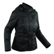 CE Armour City Scooter Ladies Textile Motorcycle Touring Motorbike Jacket Black