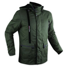 Warm 100% Waterproof Armour CE Textile Motorcycle Motorbike Jacket Green