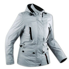 CE Armour City Scooter Ladies Textile Motorcycle Touring Motorbike Jacket Grey