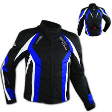 Waterproof Motorcycle Motorbike Blue CE Approved Armored Textile Lady Jacket