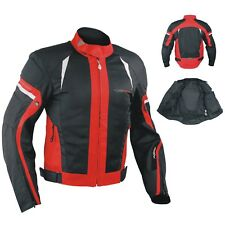Summer Motorbike Mesh Sport Racing Touring CE Armored Jacket Motorcycle Red