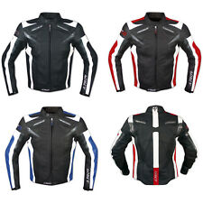 Leather Jacket Motorcycle Racing Motorbike Sport CE Armored A-Pro