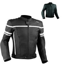 Motorcycle Motorbike Quality Genuine Leather Jacket CE Protection Cruiser