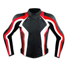 Racing Motor Sports Track Leather Jacket Motorbike Motorcycle A-PRO Red