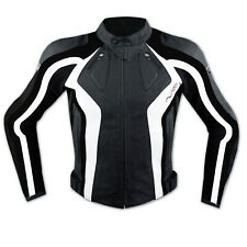 Motorbike Motorcycle Ladies CE Armours Sport Leather Racing Tour Jacket White
