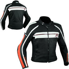 Quality Motorbike Motorcycle CE Armours Leather Touring Racing Jacket Orange