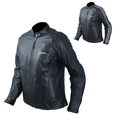Jacket Leather Ladies Motorcycle Vintage CE Protectors Armour CE White