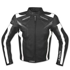 Leather Jacket Motorcycle Racing Motorbike Sport CE Armored A-Pro Black