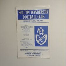 Bolton Football Programmes -  1960's to 1970's  -  Various Fixtures