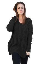 Ladies  Black Oversized Cozy up Knit Sweater  Oversized Sweater