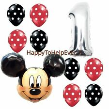 Disney Mickey/ Minnie Mouse Giant Foil Balloons baloon ballon Polka Dot Number 1
