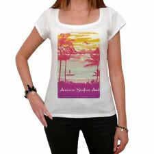 Arevare Seaface And Escape to paradise Femme T-shirt Blanc  00280