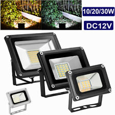 LED Floodlight 12V 10W 20W 30W Outdoor Security Wall Flood Light Cool/warm IP65