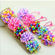 2X Women Girls Elastic Hair Ties Band Ropes Ring Ponytail Holder Accessories S&K