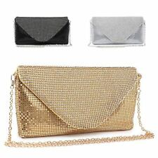Ladies Diamante Envelope Clutch Bag Cocktail Bag Party Bag Handbag Purse ME68005