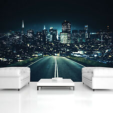 Wall Mural Photo Wallpaper Picture EASYINSTALL Fleece City Lights by Night Mural