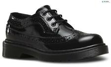 Dr Martens Kids' 3989 Patent Brogue 3 Eye Shoes - Black