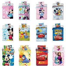 Disney Minni Mickey Mouse Princess Cars Winnie The Pooh Biancheria Letto 100x135