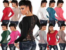 KOUCLA MAGLIONE PULLOVER GIACCA pizzo strass zip cardigan sweater cardigan gilet