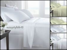 NEW SOFT T400 FITTED SHEETS & FLAT SHEETS, DUVET SET AND PILLOWCASES