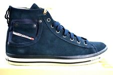 Diesel Exposition I aimants India Ink Bleu Cuir Sauvage daim chaussures baskets