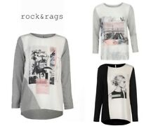 Ladies Rock and Rags Digital Print Long Sleeves Top