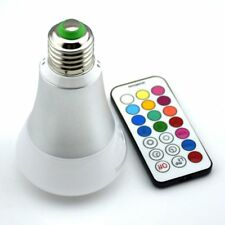 10W E27 RGBW LED Bulbs Lamp w/Remote Control AC85-265V 900LM Energy Saving