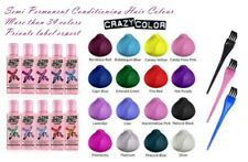 CRAZY COLOR SEMI PERMANENT HAIR COLOUR DYE FULL RANGE WITH FREE PAIR OF GLOVES