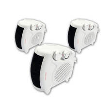 3 X 2000W PORTABLE SILENT ELECTRIC FAN HEATERS HOT & COOL UPRIGHT NEW HEATER NEW