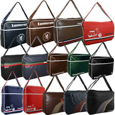 Lambretta Scooter Retro College School Laptop Travel Flight Messenger Bag  Me...