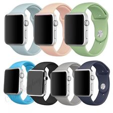 Replacement Silicone Sport Band Strap For Apple Watch 38 42 iWatch 38mm 42mm ~
