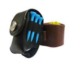 Portable Golf Ball Holder Pouch Bag Leather Cool Golf Tee Bag Sports Accessories