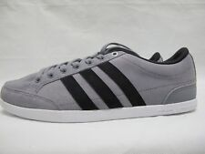 Mens Adidas Caflaire Shoes Grey Black Lace Up Suede Trainers