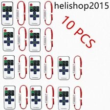 12V RF Wireless Remote Switch Controller Dimmer for Mini LED Strip Light 10pc &Y